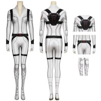 Natasha Romanoff White Jumpsuit 2020 Movie Black Widow Cosplay Costume