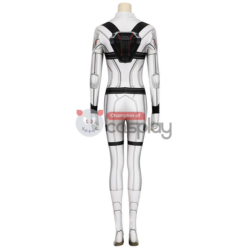 Natasha Romanoff White Jumpsuit 2020 Movie Black Widow Cosplay Costume