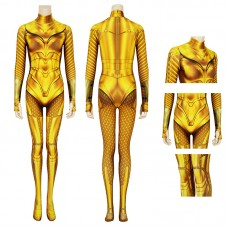 Diana Prince Jumpsuit DC Wonder Woman 1984 Golden Cosplay Costume
