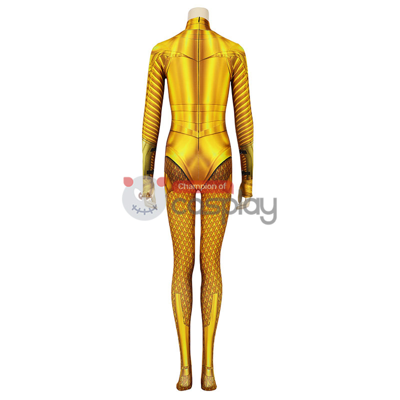 Diana Prince Jumpsuit DC Wonder Woman 1984 Golden Cosplay Costume