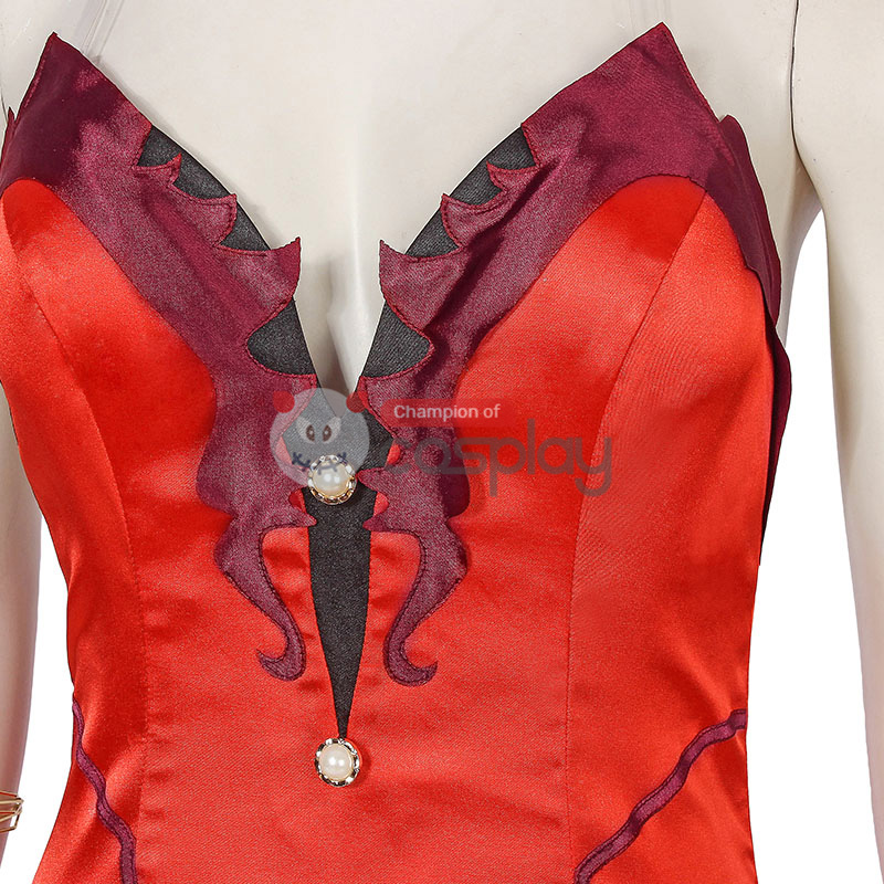 Aerith Gainsborough Costume Red Final Fantasy VII Remake Cosplay Costume