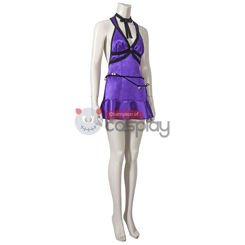 Tifa Lockhart Costume Purple Final Fantasy VII Remake Cosplay Costume