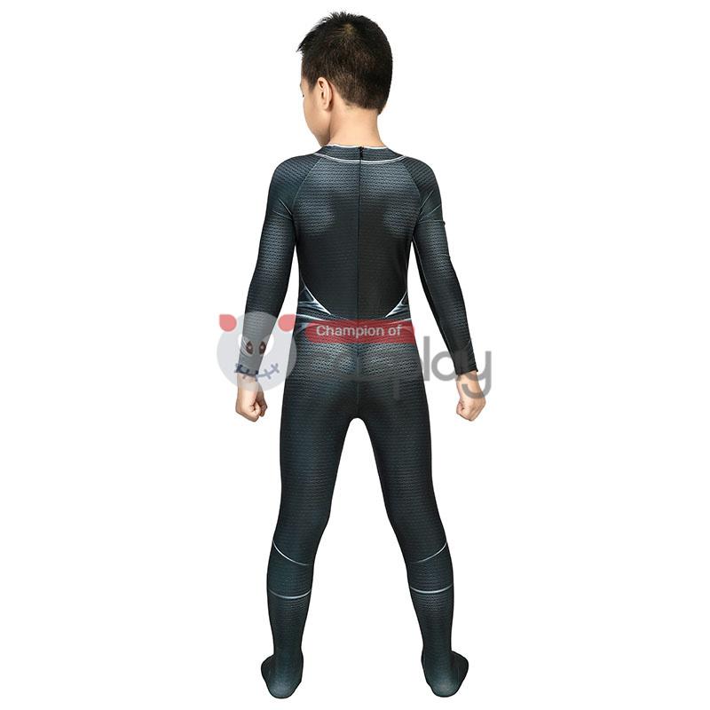 Kids Superman Jumpsuit Justice League Clark Kent Superman Black Cosplay Costume