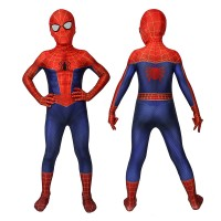 Peter Parker Kids SpiderMan Costume Spider-Man Into the Spider-Verse Cosplay Costumes