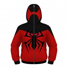 Kids Spider-Man Zip Up Long Sleeve Fashion Hoodie