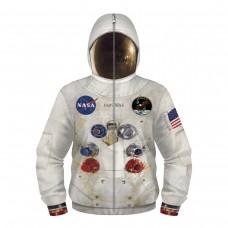 Kids Nasa Astronaut Zip Up Long Sleeve Hoodie