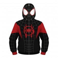 Kids Miles Morales Zip Up Hoodie Spider-Man Fashion Sweatshirt