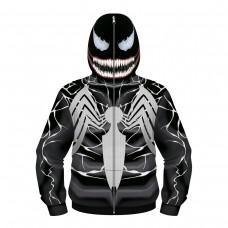 Kids Spider-Man Venom Zip Up Long Sleeve Hoodie