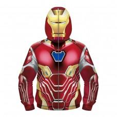 Kids Iron Man Fashion Zip Up Hoodie