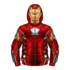 Kids New Iron Man Fashion Zip Up Long Sleeve Hoodies