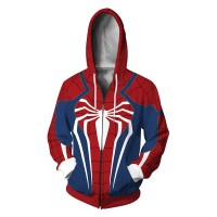 Spiderman Ps4 3D Zip Up Hoodies