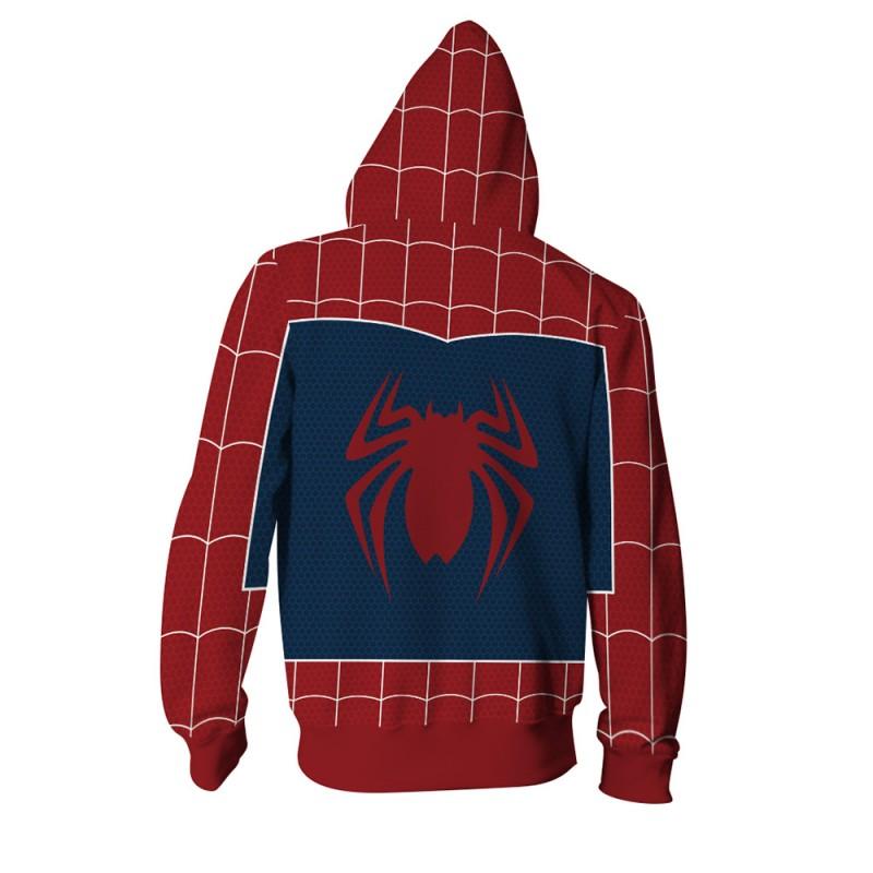3D Printed Spider Man PS4 Zip Up Hoodie