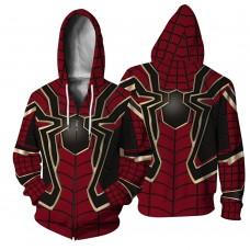 3D Print Pattern Avengers Endgame Spider Man Zip Up Hoodie