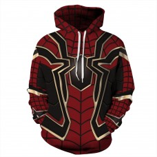 3D Print Pattern Avengers Endgame Spider Man Long Sleeve Hoodie