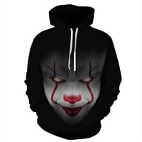 It Chapter 2 Pennywise 3D Print Pattern Long Sleeve Hoodies