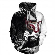 3D Print Pattern Venom Long Sleeve Hoodie