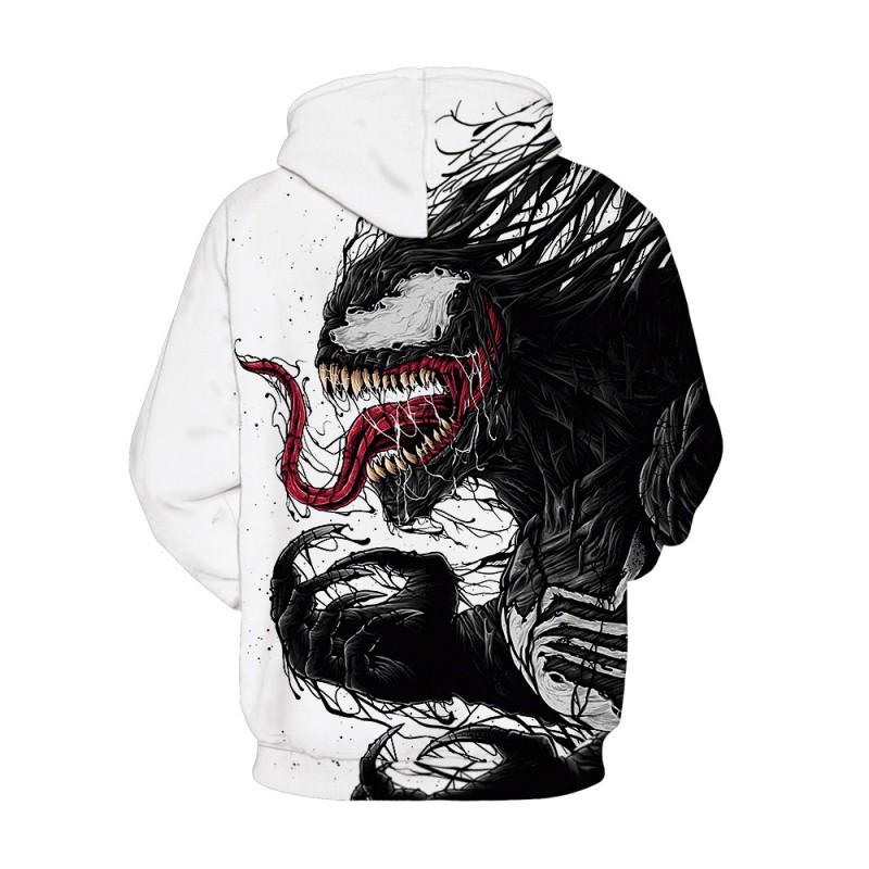 3D Print Pattern Venom Long Sleeeve Hoodie
