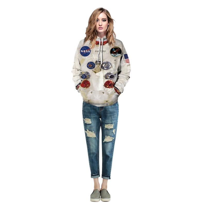 Long Sleeve Nasa Astronaut Hoodie 3D Print Pattern Space Suit