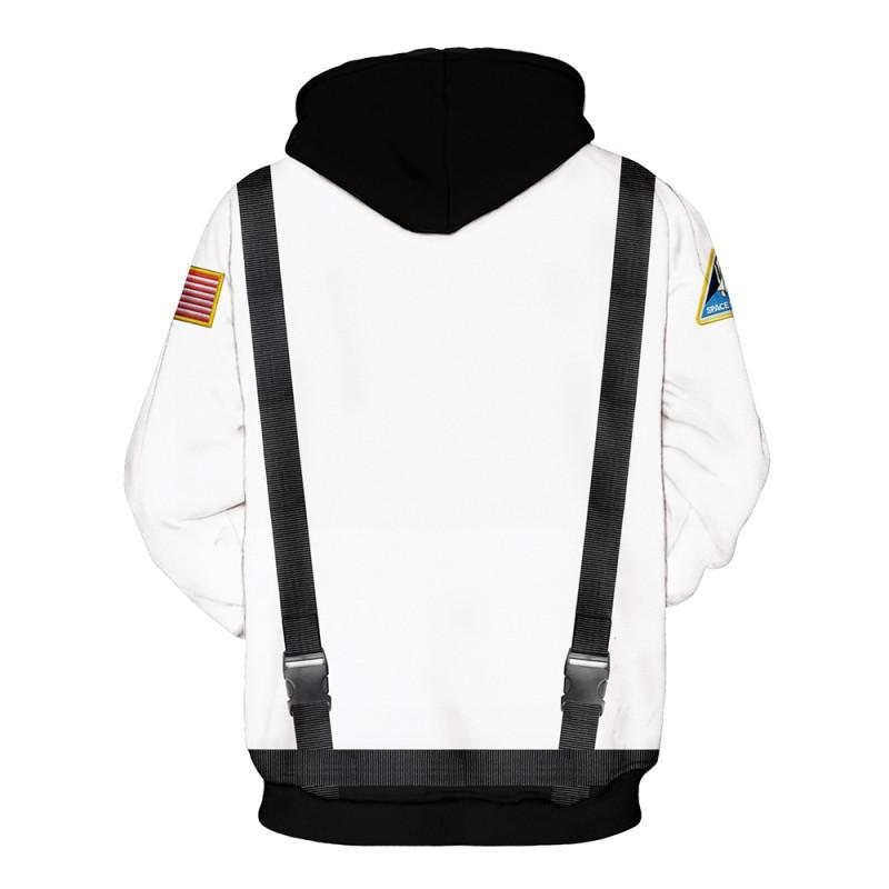New Nasa Astronaut 3D Print Long Sleeve Hoodie