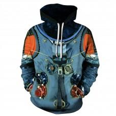 New 3D Print Nasa Astronaut Long Sleeve Hoodie