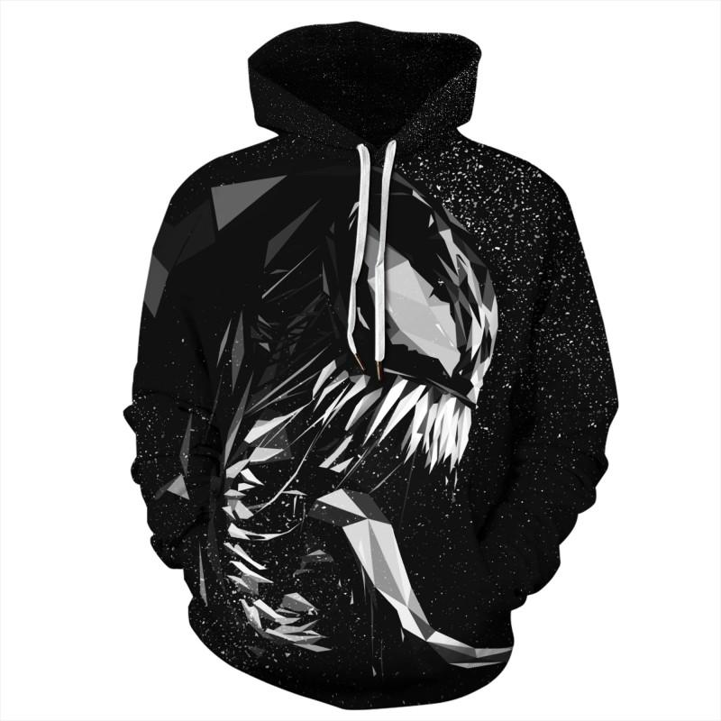 Venom Black Long Sleeeve Hoodie