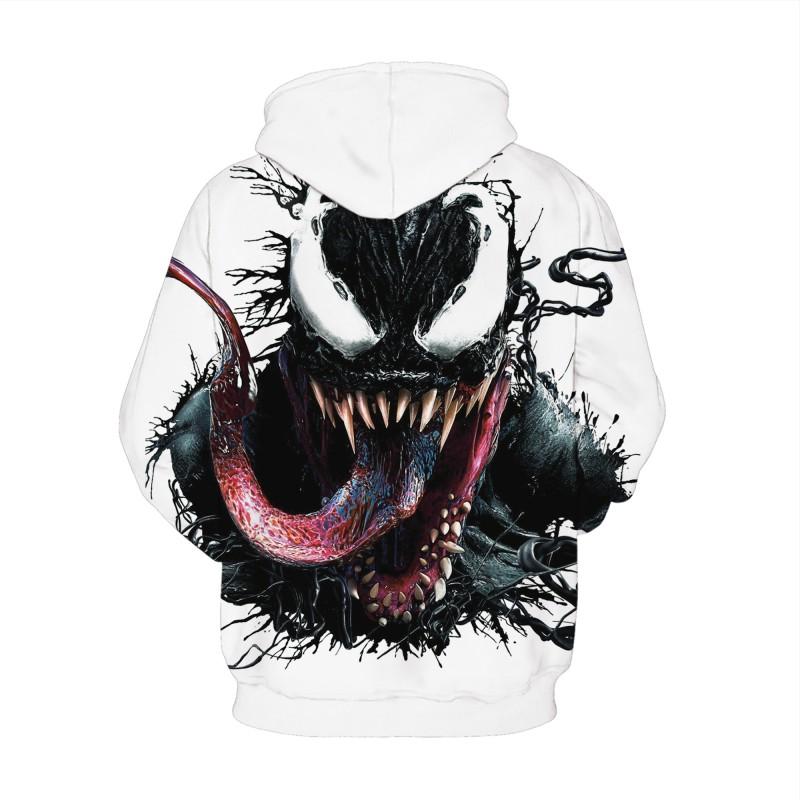 Venom 3D Printed Long Sleeeve Hoodie