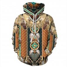 Fashion 3D Print American Indian Pattern Hoodie