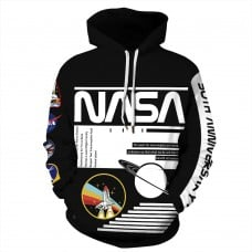 Nasa Astronaut Suit 3D Print Apaceship Long Sleeve Hoodie