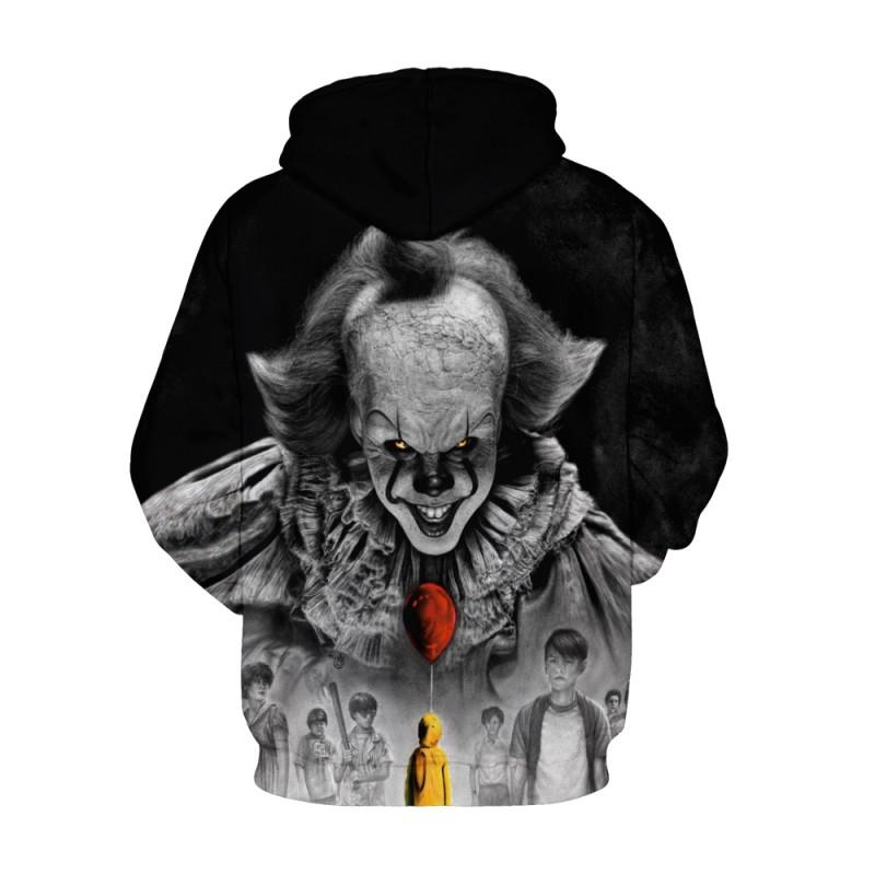 Pennywise Long Sleeve Hoodie It Chapter Two Halloween Sweatshirt