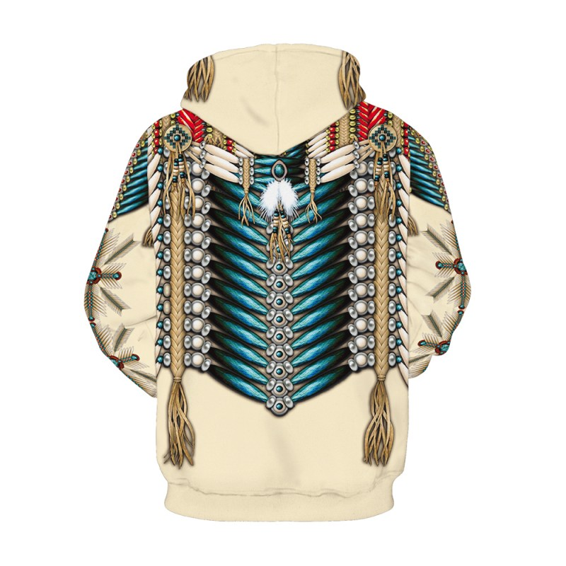 Fashion 3D Print American Indian Owl Pattern Hoodie