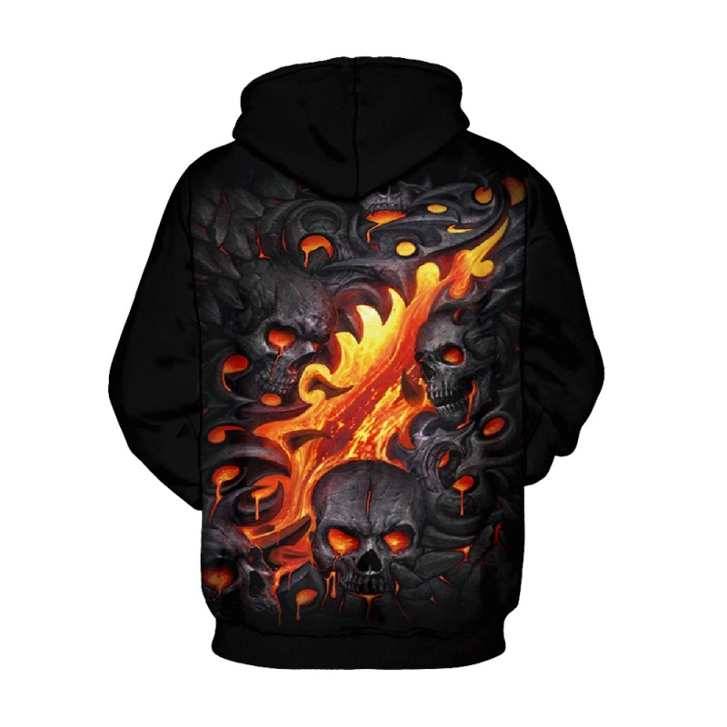 3D Print Halloween Daily Going Out Skull Logo Hoodie