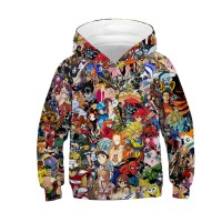 Kids Fashion Long Sleeve Hoodie 3D Print Anime Pattern