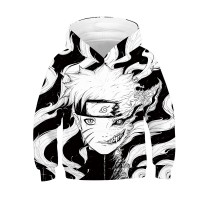 Kids Naruto 3D Printed Pattern Long Sleeve Hoodies