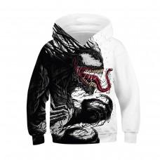 Kids Venom 3D Print Pattern Long Sleeve Hoodie