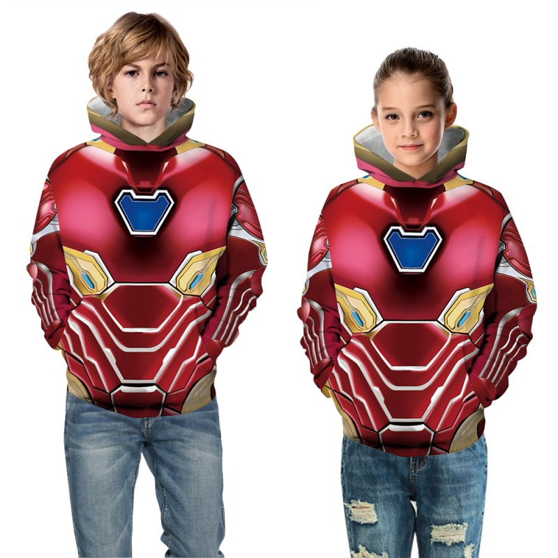 Kids Iron Man Pattern Long Sleeve Fashion Hoodie