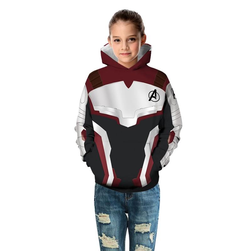 Kids The Avengers 3D Print Pattern Long Sleeve Hoodie