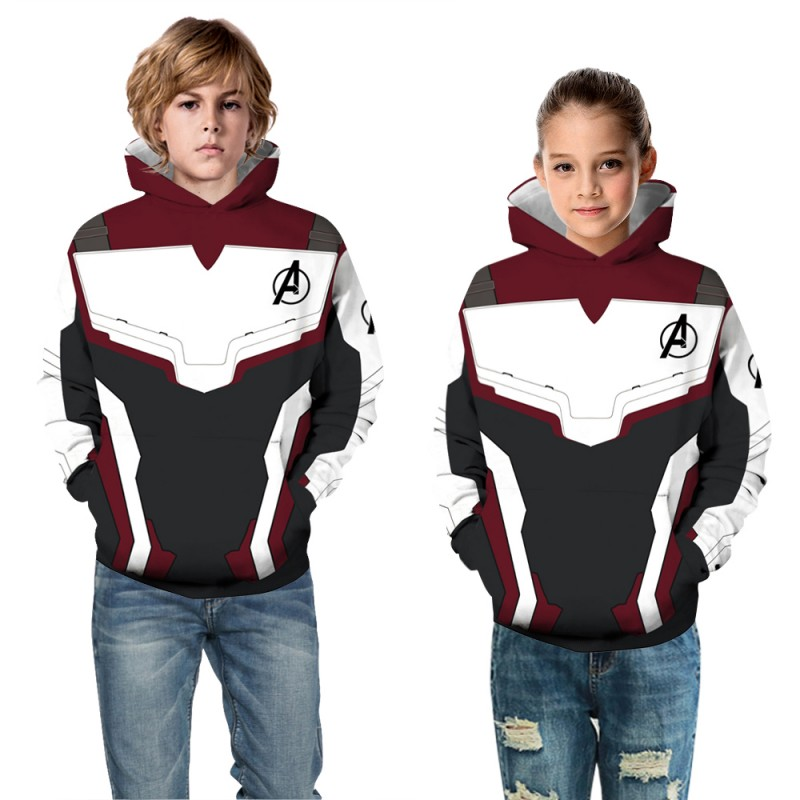 Kids The Avengers Pattern Long Sleeve Fashion Hoodie