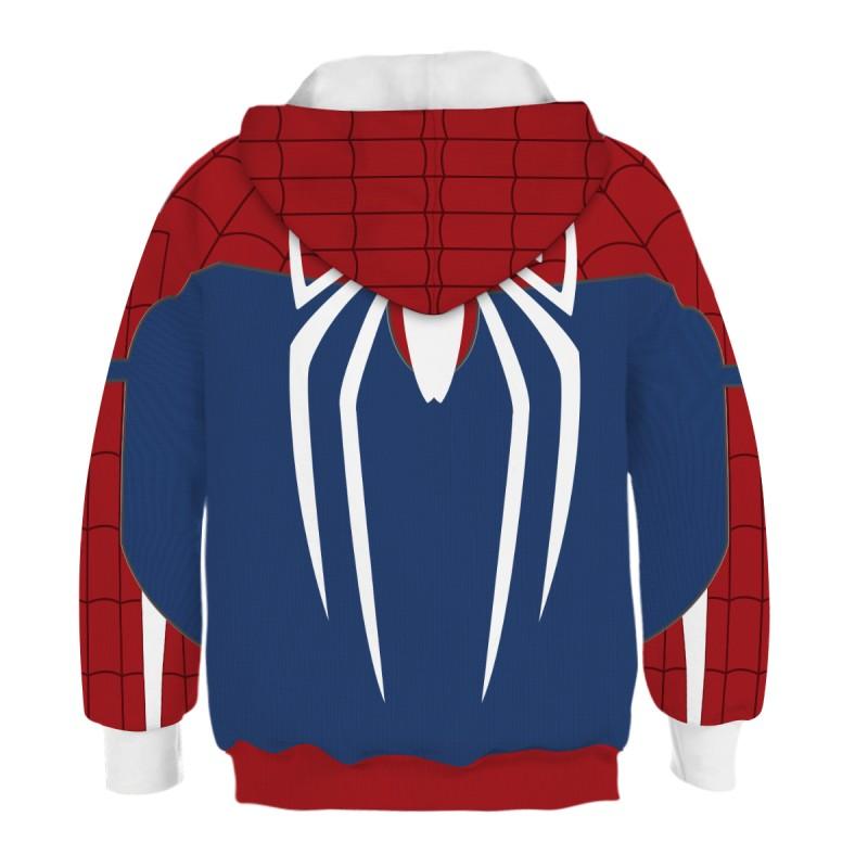 Kids Spider Man PS4 3D Print Pattern Long Sleeve Hoodie