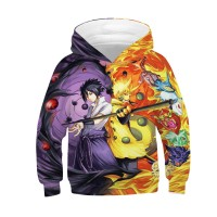 Kids Anime 3D Printed Pattern Long Sleeve Hoodies