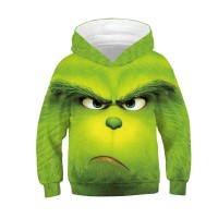 Kids Fashion The Grinch Pattern Long Sleeve Hoodie