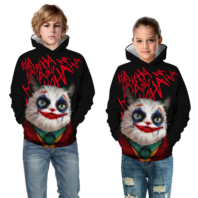 Kids Halloween Daily Going Out Clown Fashion Hoodie