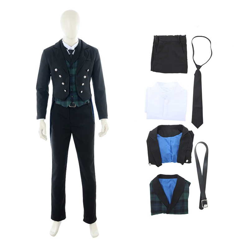 Black Deacon Cosplay Costume Sebastian Michaelis Costume