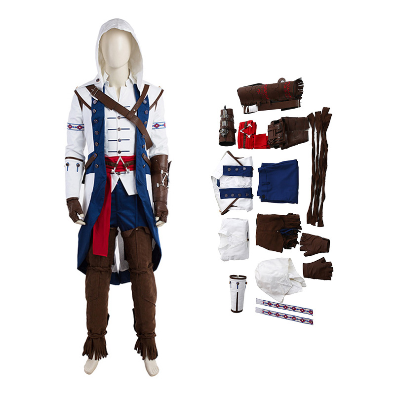 Assassin'S Creed 3 Connor Halloween Cosplay Costume