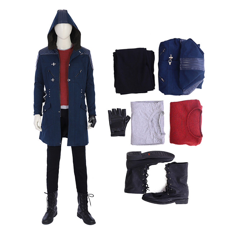 DMC5 Game Devil May Cry 5 Nero Cosplay Costume Hooded Jacket Costumes