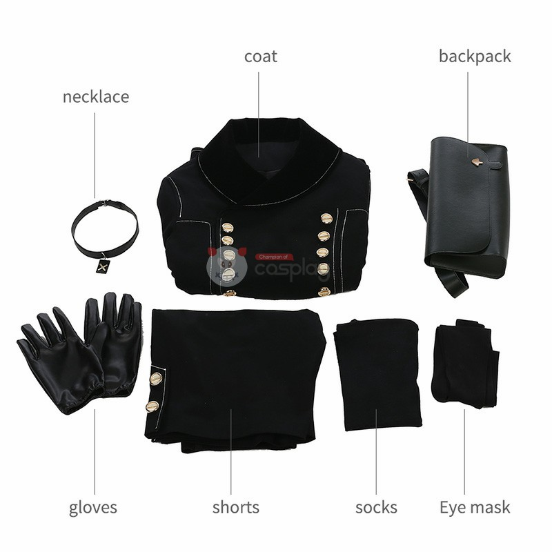 NieR Automata YoRHa 9 S-Type Male Cosplay Costume Deluxe Full