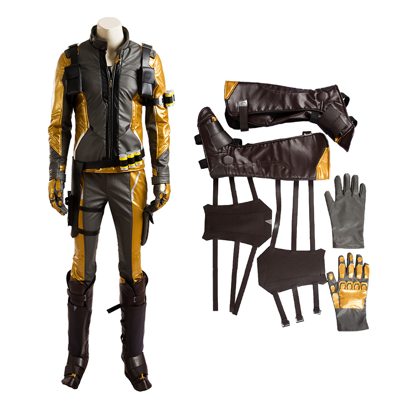 Top Level Overwatch Soldier 76 Jack Morrison Golden Cosplay Costume
