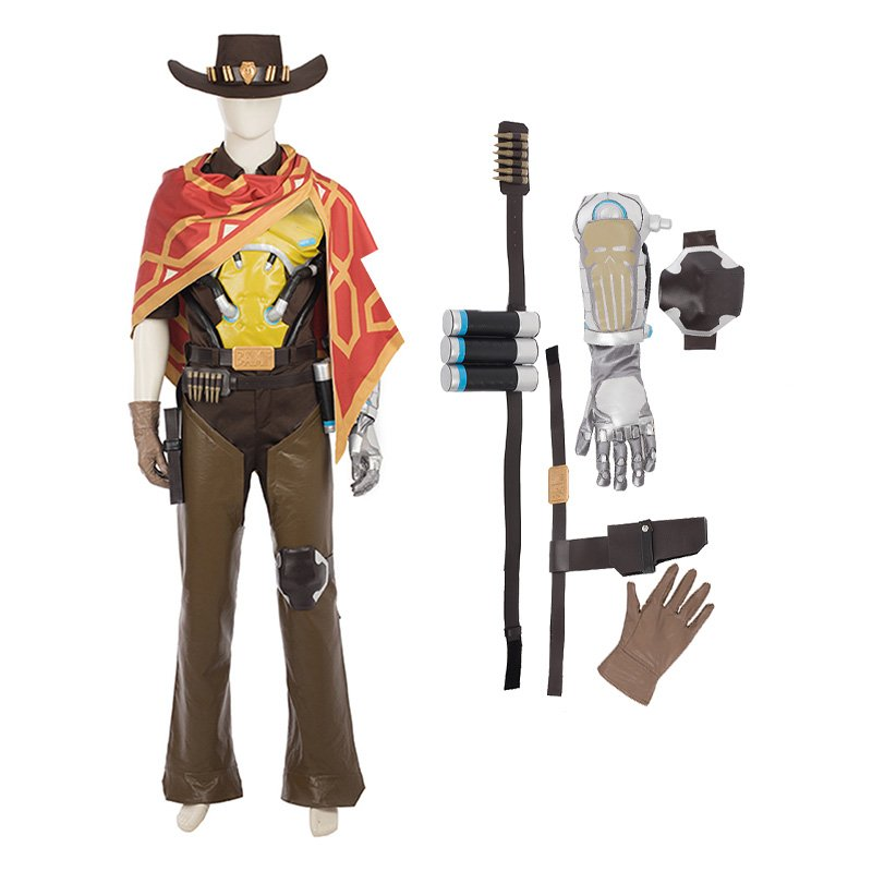 Top Level Overwatch Game Hero Jesse McCree Bounty Hunter Cosplay Costume