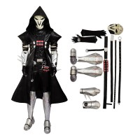 Deluxe Version-Overwatch Reaper Gabriel Reyes Cosplay Costume