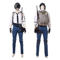 Top Level PUBG White Shirt Cosplay Costume