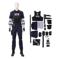 Resident Evil 2 Cosplay Costume Leon S. Kennedy R.P.D. Suit Costumes